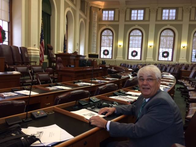 Stedman Seavey in the Maine House chamber